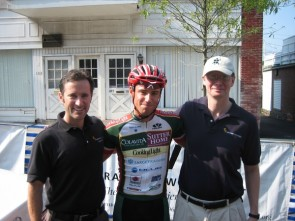 Basil and Thurstan with team graduate Andy Guptill at the 2007 Univest Grand Prix