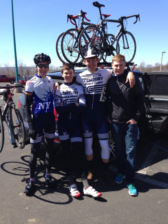 Team @ Trooper Brinkerhoff. Members l to r: Sammy Moseley, Sam Morkal-Williams, and Andrej Vogel