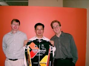 The Sakonnet bosses: Thurstan Bannister, Eric \'Kyoo\' Min, Alarik Myrin